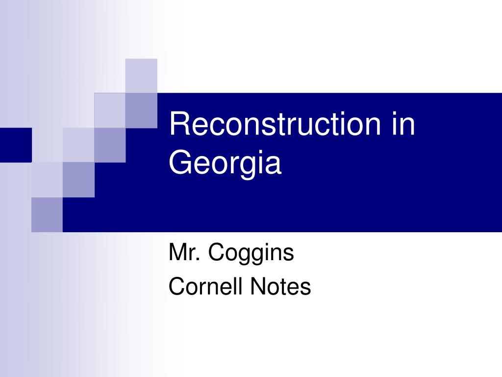 reconstruction in georgia l.