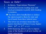 taxes or debt