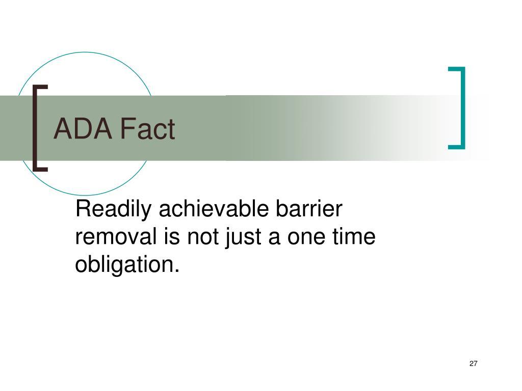ADA Fact