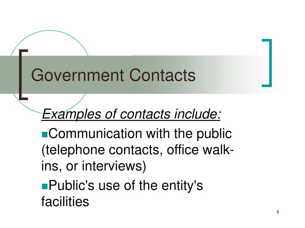 Government Contacts