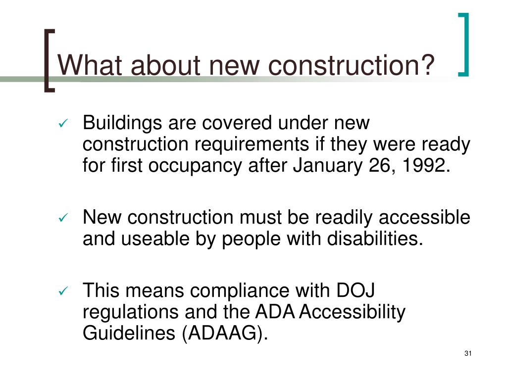 What about new construction?