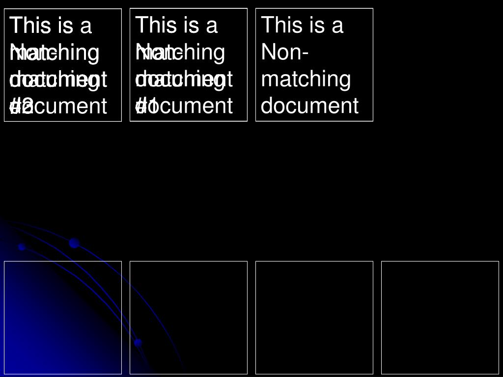 This is matching document #1