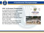 4 continental championships