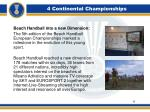 4 continental championships11