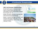 4 continental championships2