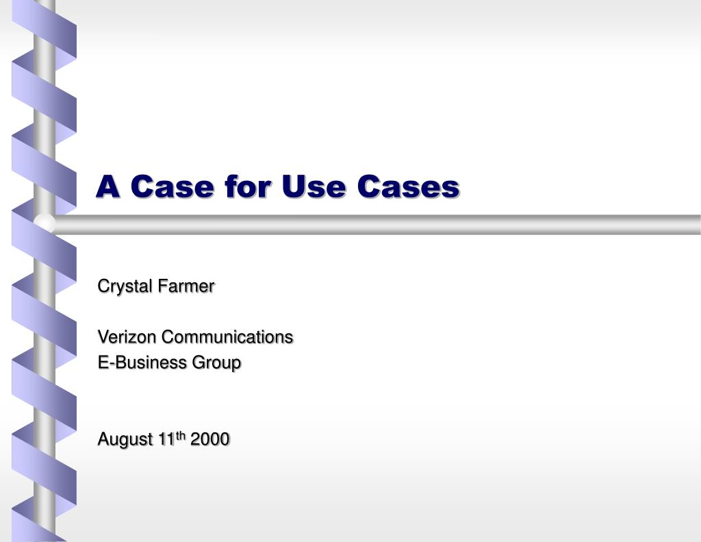 a case for use cases l.