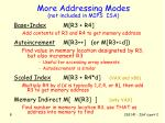 more addressing modes not included in mips isa