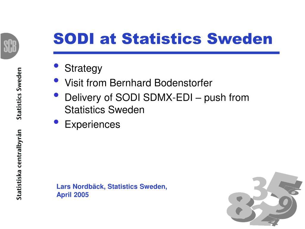 sodi at statistics sweden l.