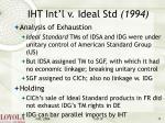 iht int l v ideal std 199411