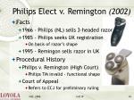 philips elect v remington 2002