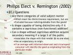 philips elect v remington 200215