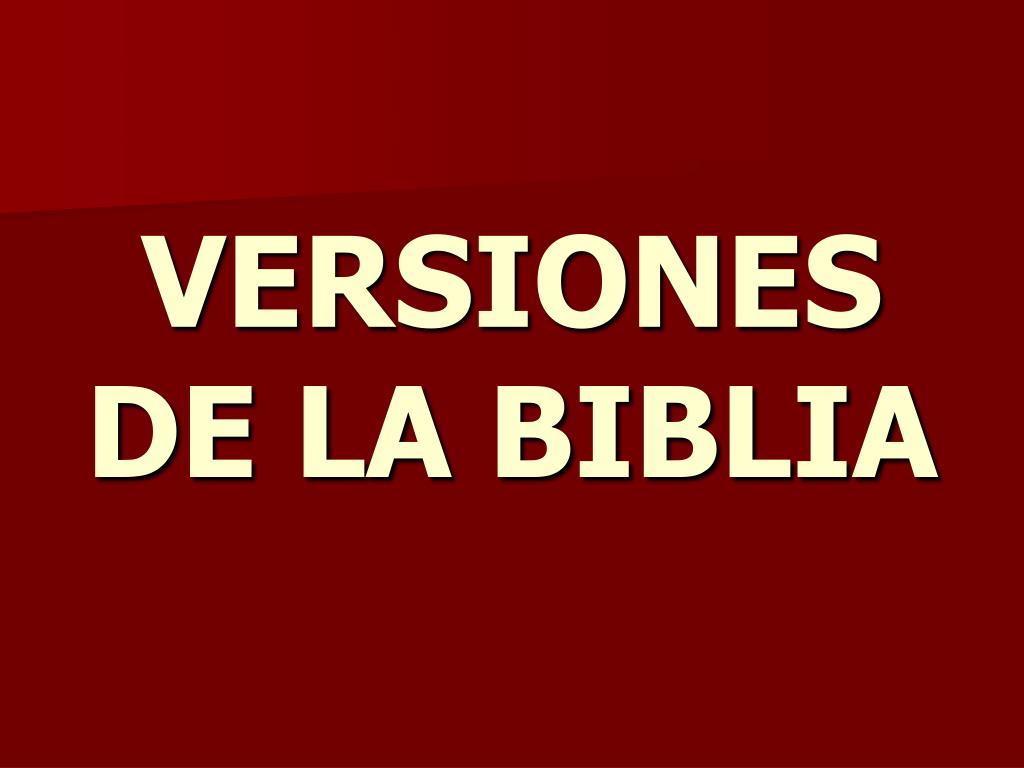 versiones de la biblia l.