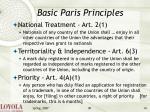 basic paris principles