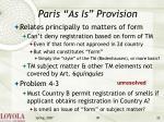 paris as is provision22