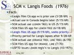 scm v langis foods 1976
