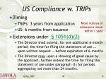 us compliance w trips