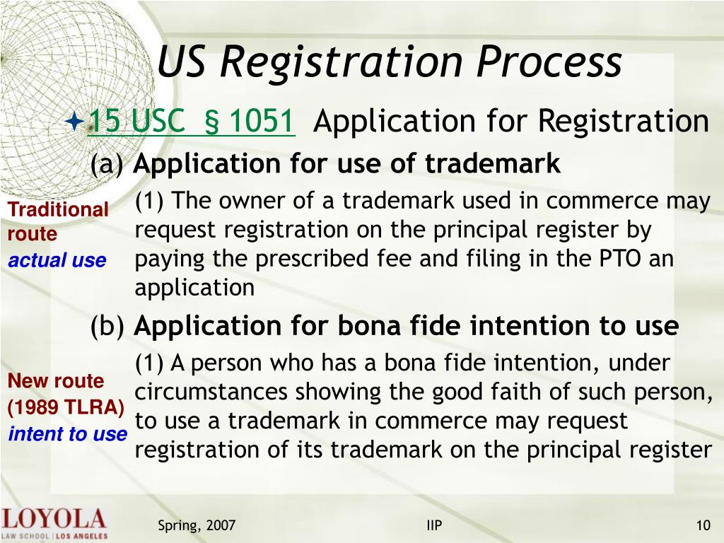 US Registration Process