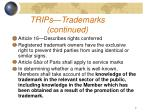 trips trademarks continued
