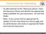 instructions for uploading