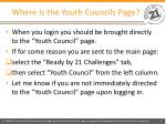 where is the youth councils page