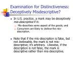examination for distinctiveness deceptively misdescriptive