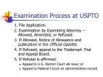 examination process at uspto