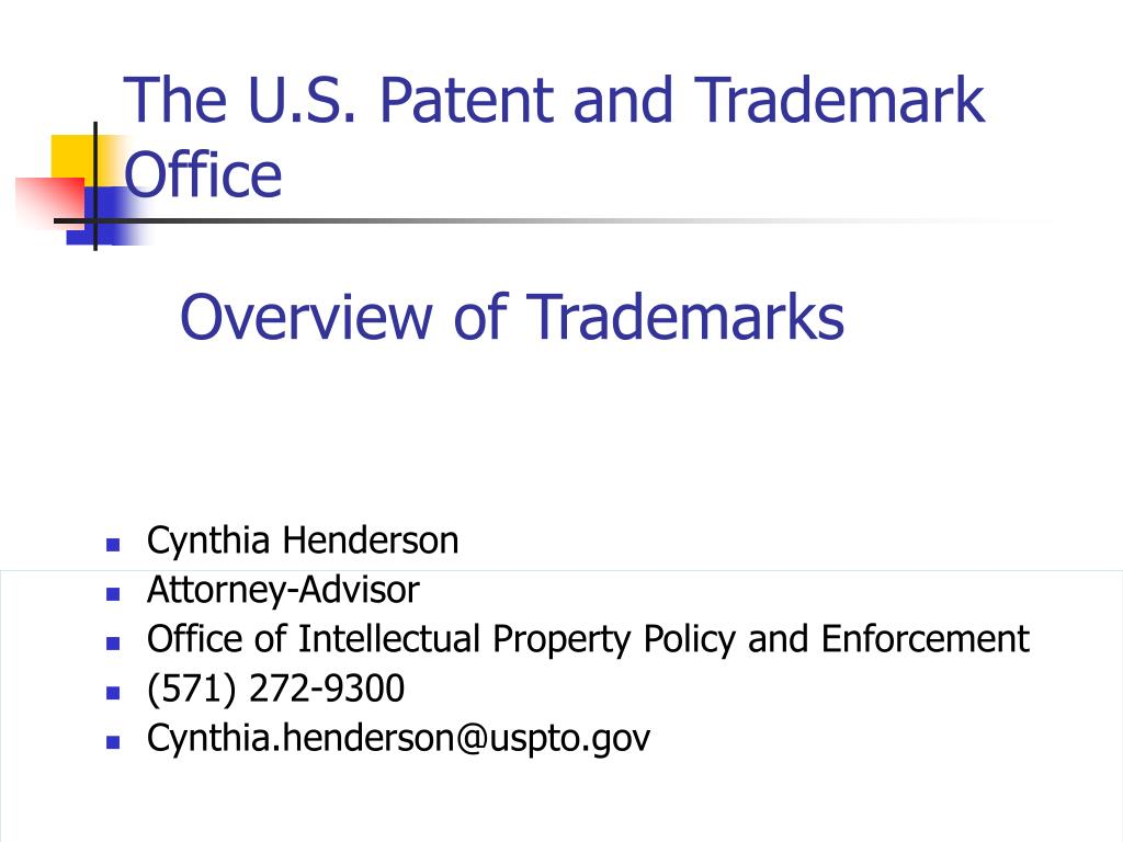the u s patent and trademark office l.