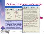 obtain substance references