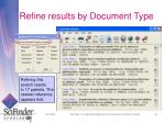 refine results by document type
