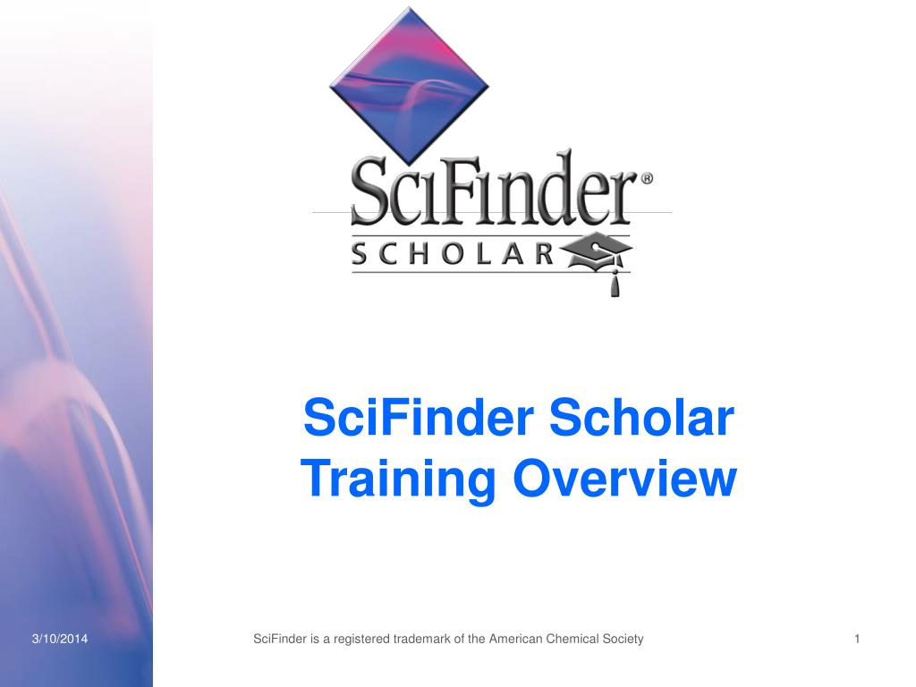 scifinder scholar training overview l.
