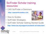 scifinder scholar training resources