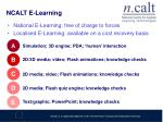 ncalt e learning
