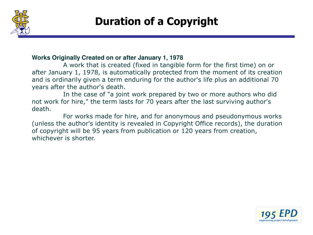 Duration of a Copyright