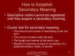how to establish secondary meaning