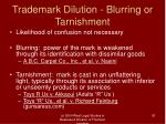 trademark dilution blurring or tarnishment