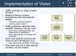 implementation of views