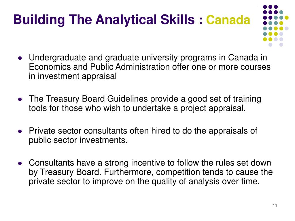 Building The Analytical Skills
