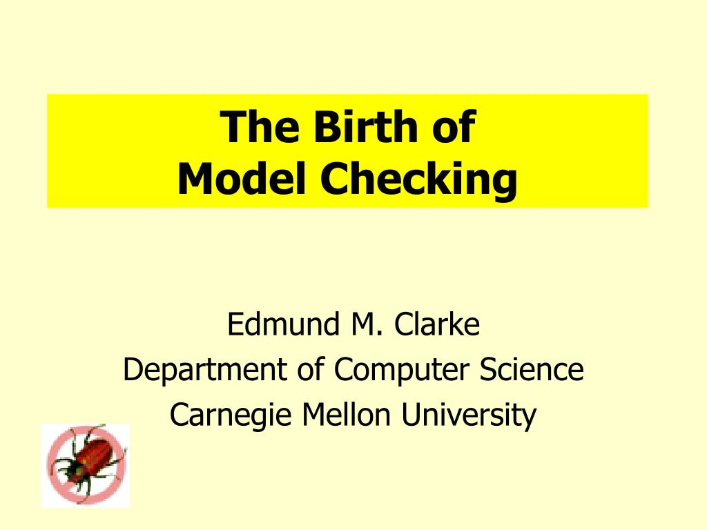 the birth of model checking l.