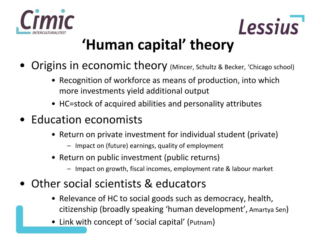 Human capital investment theory and analysis cho dong investment
