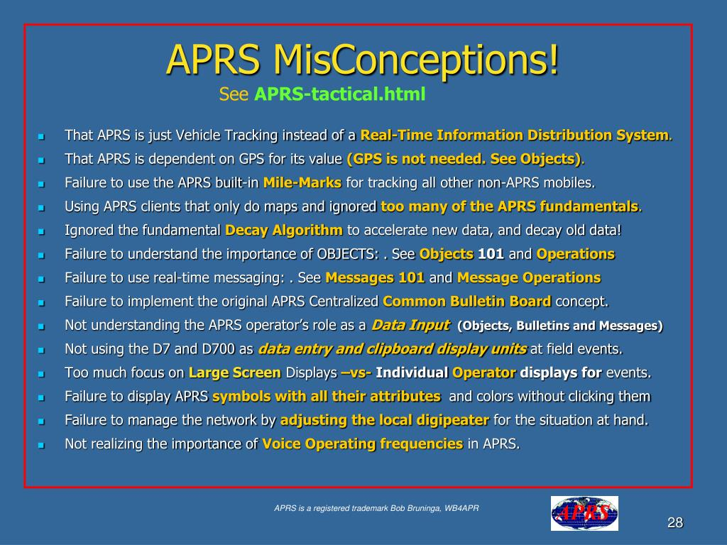 APRS MisConceptions!