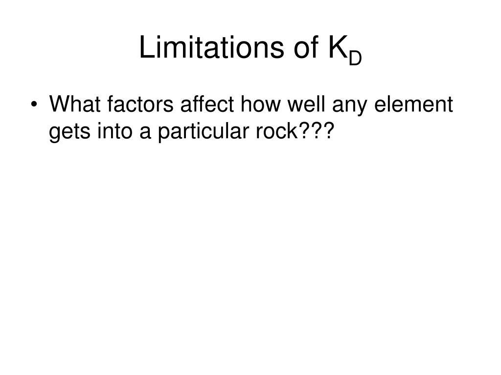 Limitations of K
