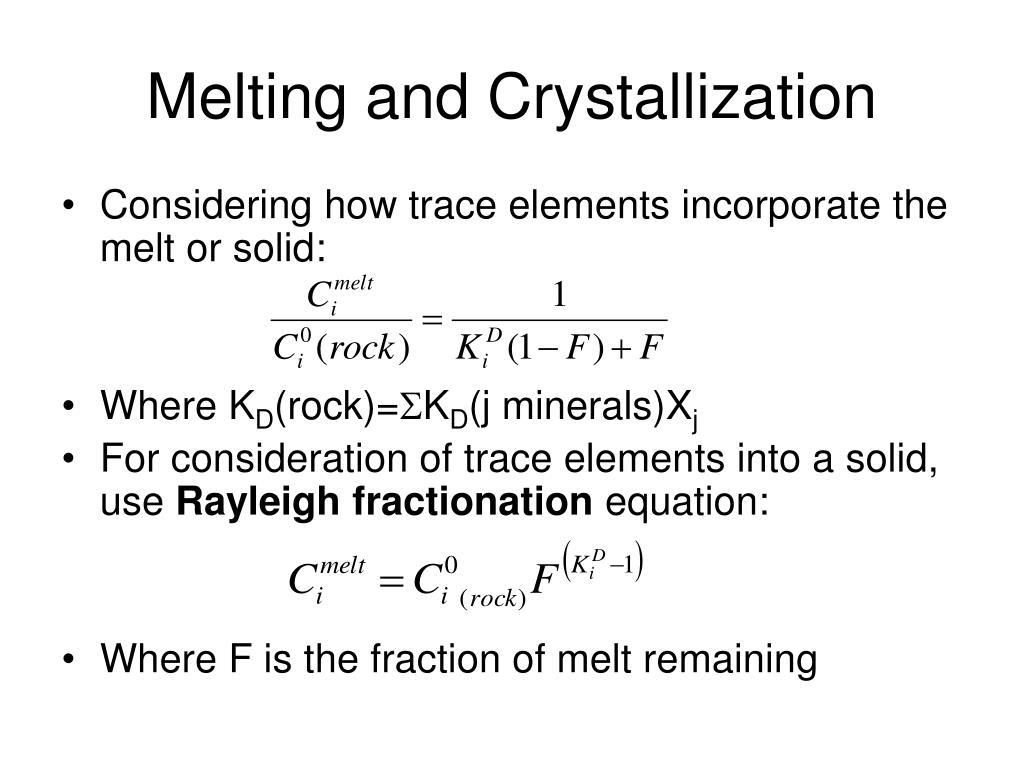 Melting and Crystallization