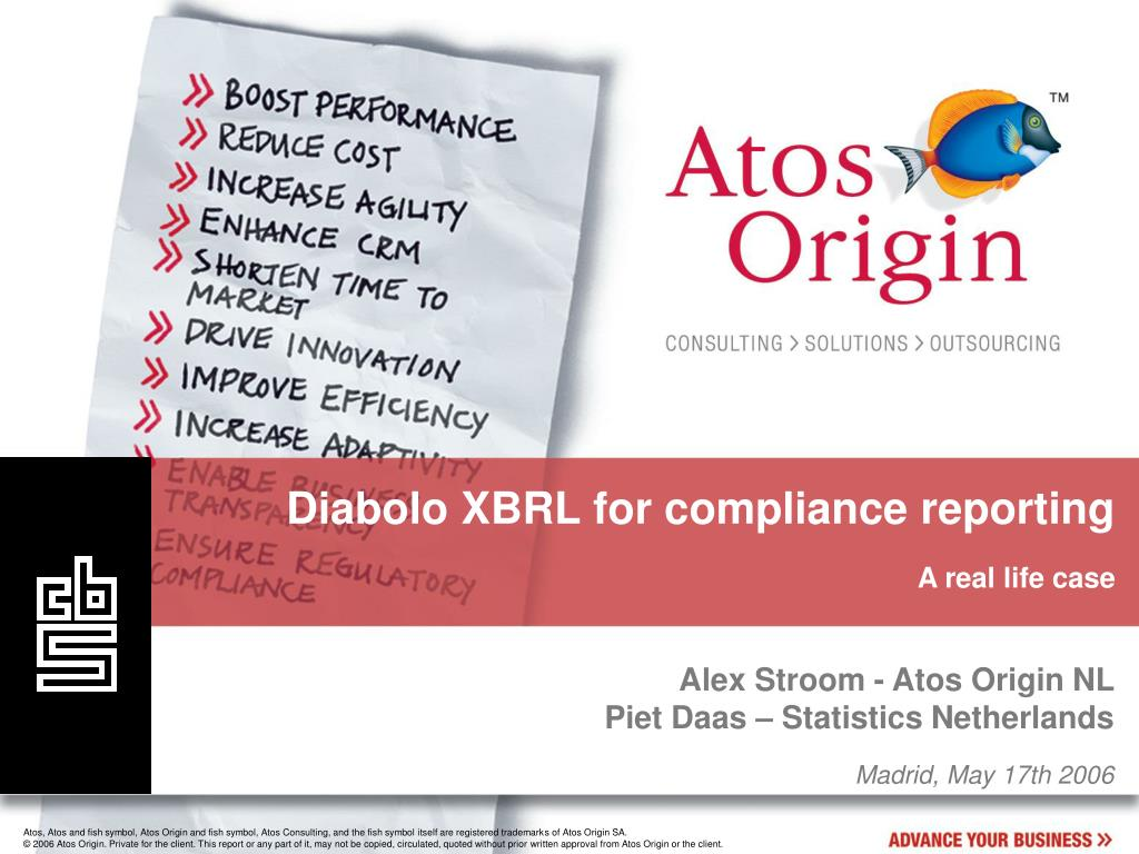 Diabolo XBRL for compliance reporting