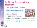 scifinder scholar training resources