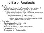utilitarian functionality