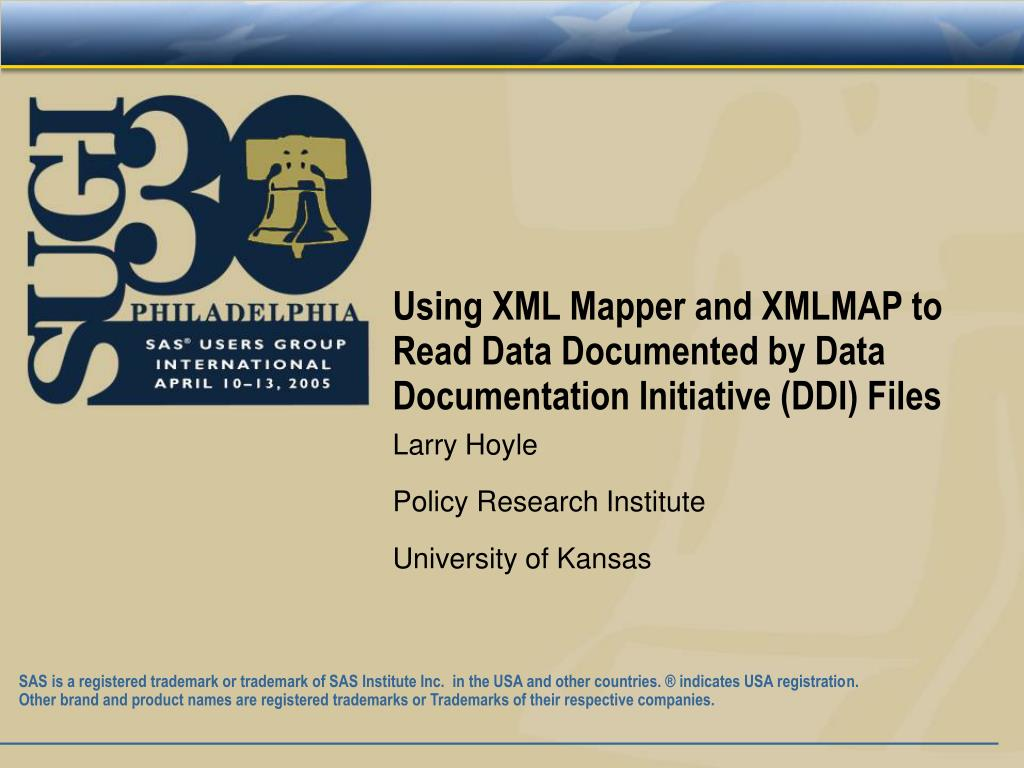 using xml mapper and xmlmap to read data documented by data documentation initiative ddi files l.