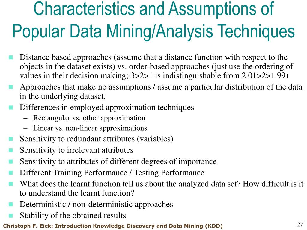 data and assumption on new technology