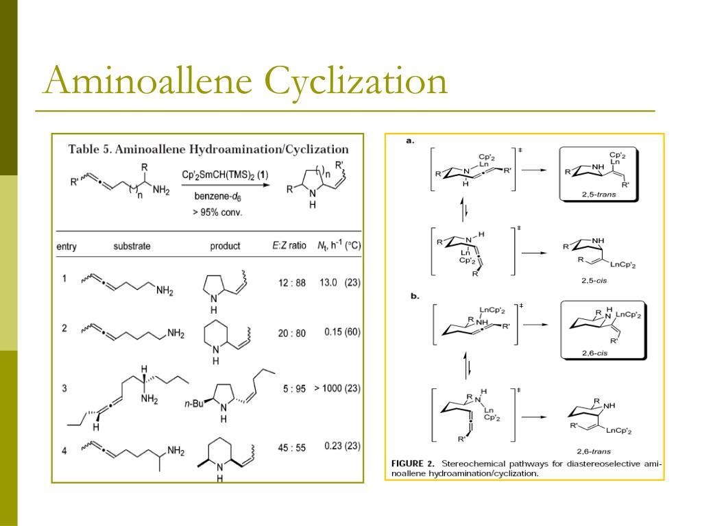 Aminoallene Cyclization
