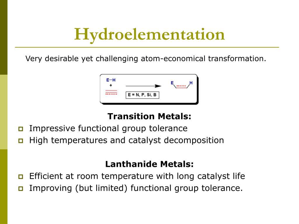 Hydroelementation