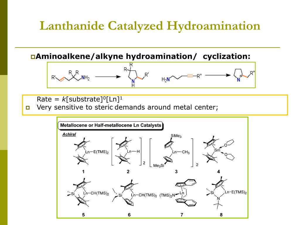 Lanthanide Catalyzed Hydroamination